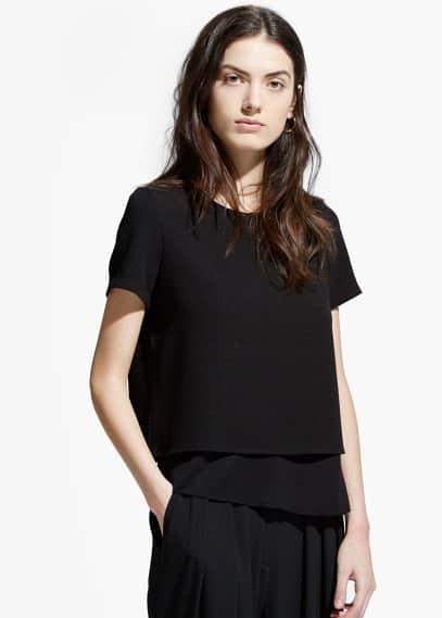 Блузка с верхним слоем из крепа | MANGO