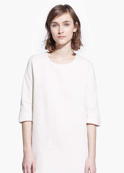 Cotton shift dress | MANGO