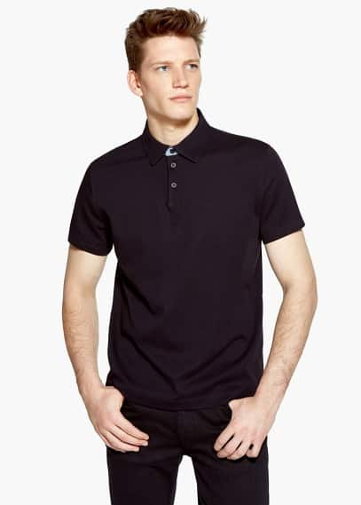 Stretch katoenen polo | MANGO MAN
