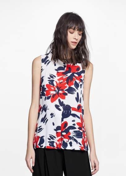 Блузка с цветочным принтом | MANGO