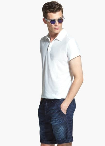 Cotton polo shirt | MANGO MAN