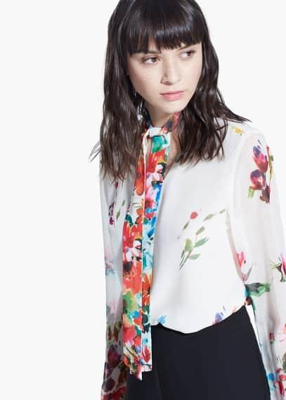 Bow blouse   MANGO