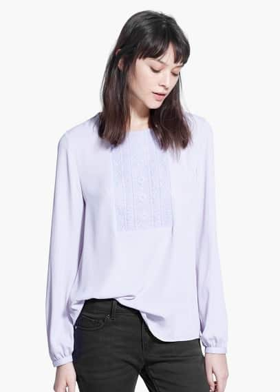 Country specials - embroidered panel blouse | MANGO