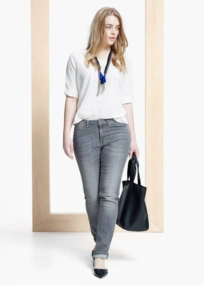Straight fit jeans theresa | VIOLETA BY MANGO