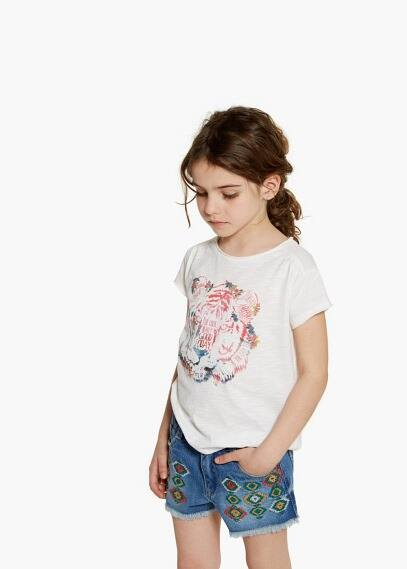 T-shirt estampado purpurina | MANGO KIDS