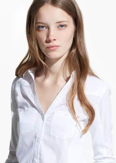 Camicia cotone tasche | MANGO
