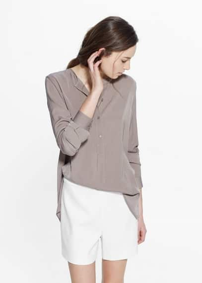Flowy long shirt | MANGO
