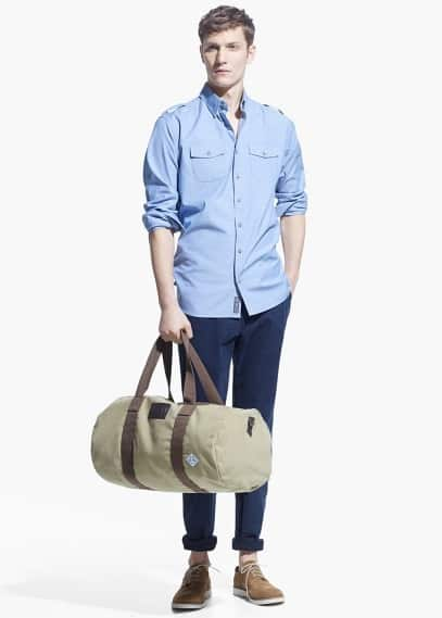 Camisa slim-fit bolsos
