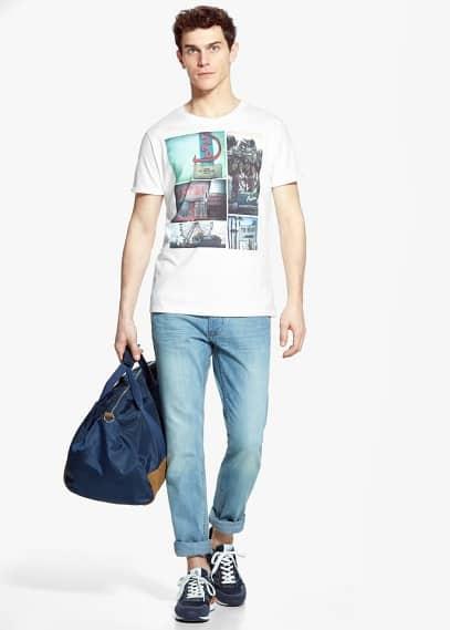 Camiseta imagen estampada | MANGO MAN