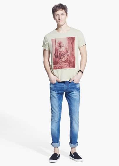 Camiseta estampada algodón
