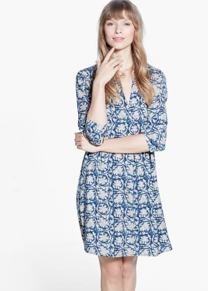 Струящееся платье-рубашка | MANGO