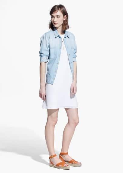 Sleeveless dress | MANGO