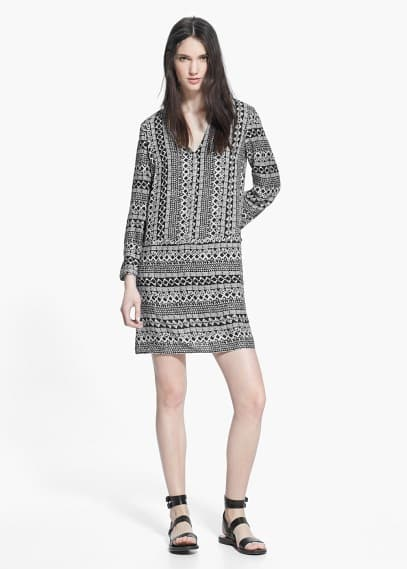 Ethnic print dress | MANGO