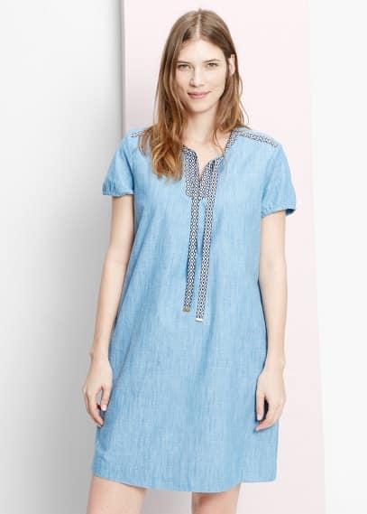 Φόρεμα ντένιμ ρέλια | VIOLETA BY MANGO