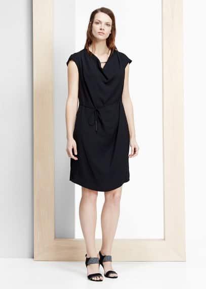 Draped neckline dress | VIOLETA BY MANGO