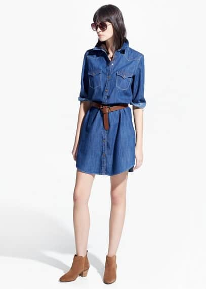 Soft denim dress | MANGO
