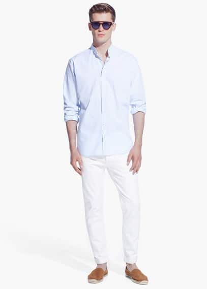 Camicia cotone slim-fit | MANGO MAN