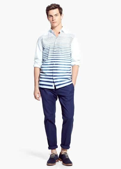 Camicia slim-fit cotone righe | MANGO MAN