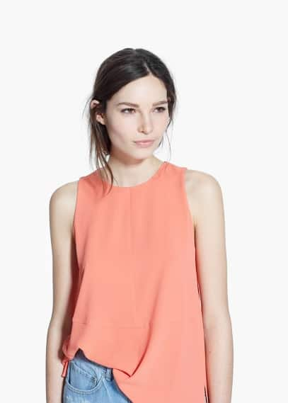 Seam textured top | MANGO