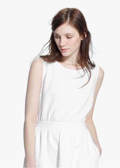 Vestido abertura laço | MANGO
