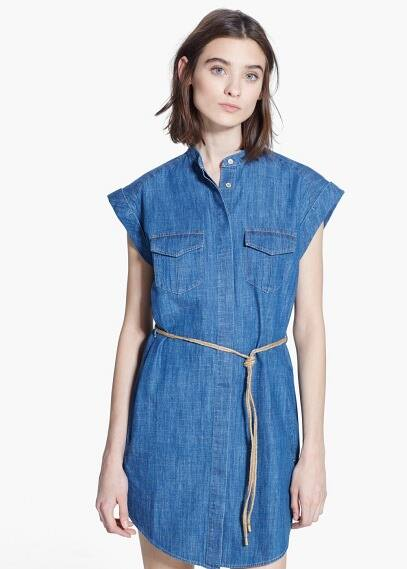 Denim cotton dress | MANGO