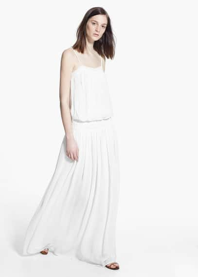 Soepelvallende boho-jurk | MANGO