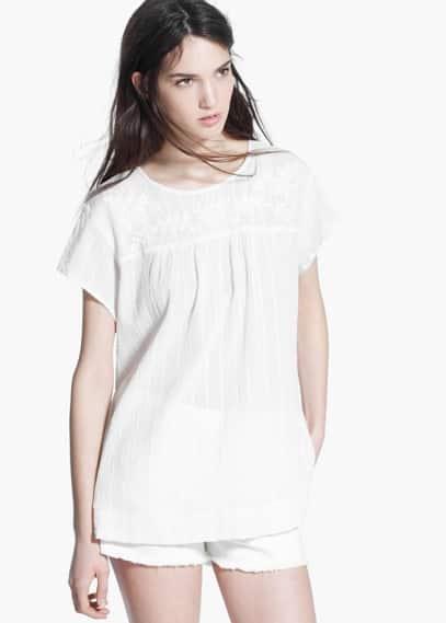 Cotton blouse | MANGO MAN