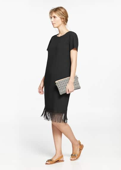 Fringed dress | VIOLETA BY MANGO