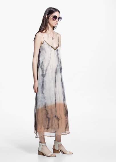 Tie-dye chiffon dress | MANGO