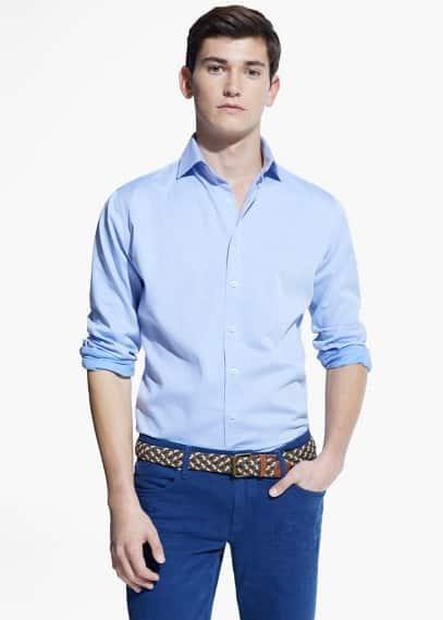 Strukturiertes slim fit hemd | MANGO MAN