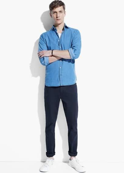 Camisa cambrai slim cotó | MANGO MAN