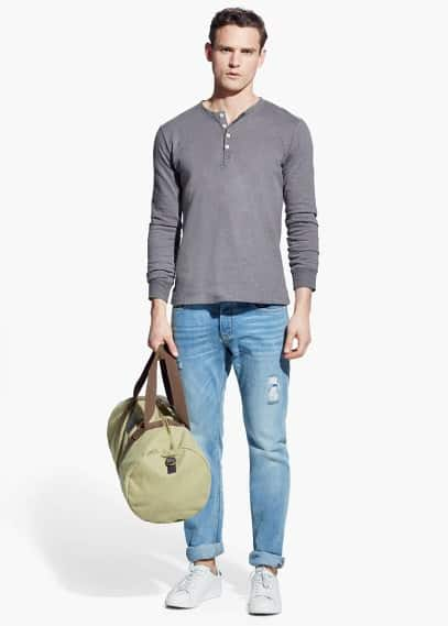 Slim-fit light wash steve jeans | MANGO MAN
