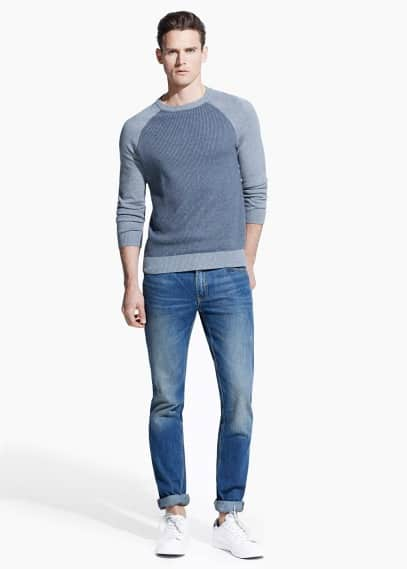 Tim slim-fit jeans met vintage wassing | MANGO MAN