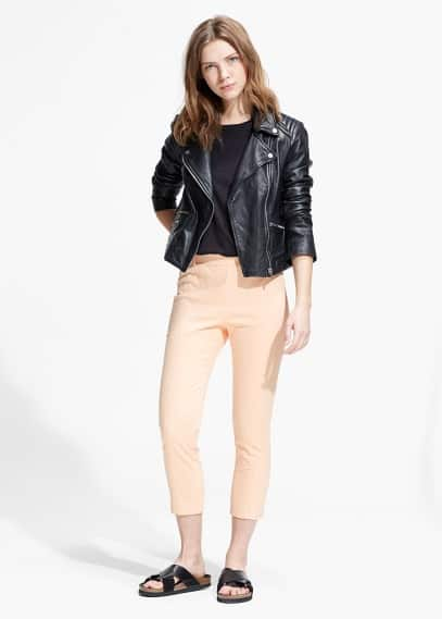 Cotton cropped jeggings | MANGO