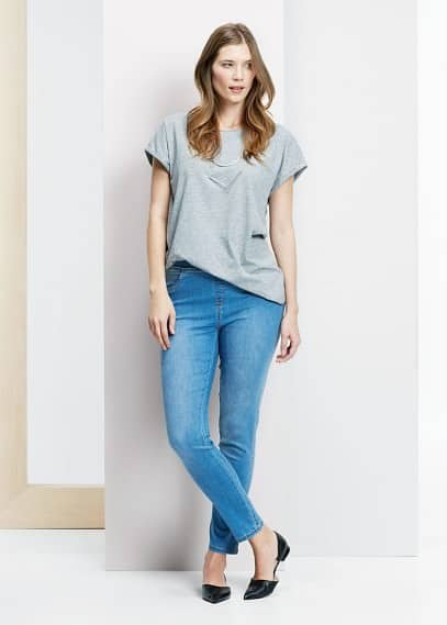 Basic katoenen t-shirt | VIOLETA BY MANGO