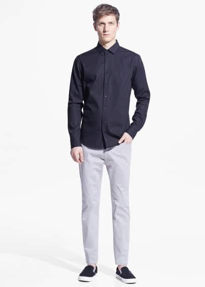 Modern slim-fit cotton shirt | MANGO MAN