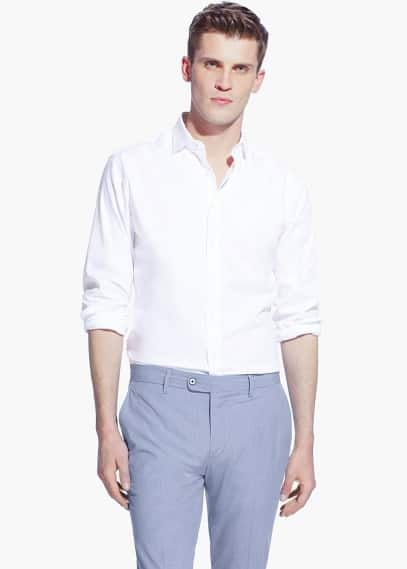 Camicia tailored slim-fit texture | MANGO MAN