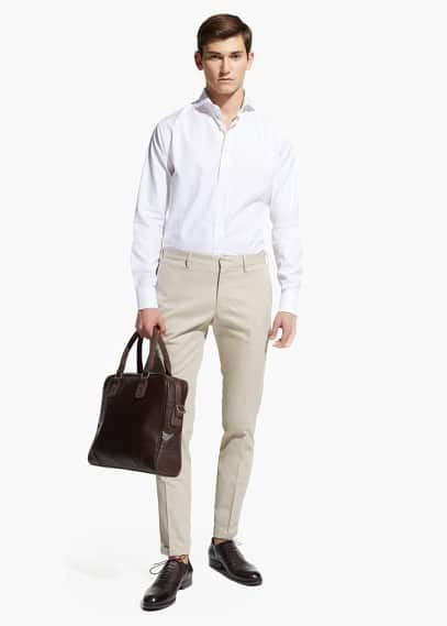 Slim-fit Tailored cotton-twill shirt