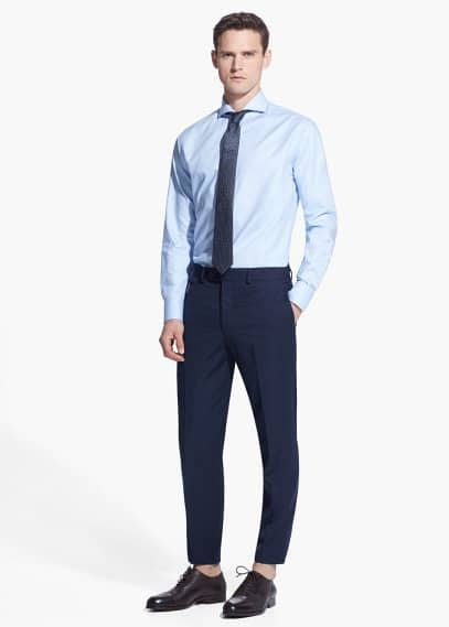 Camisa Tailored slim-fit twill