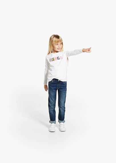 Shirt mit mango-stickerei | MANGO KIDS