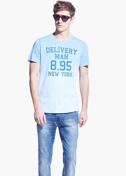 Camiseta delavada delivery man | MANGO MAN