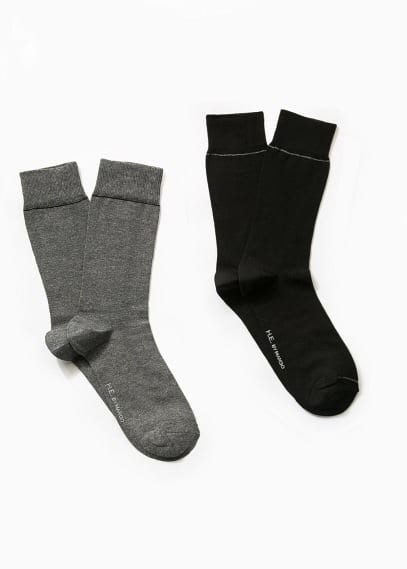 2 pack plain socks