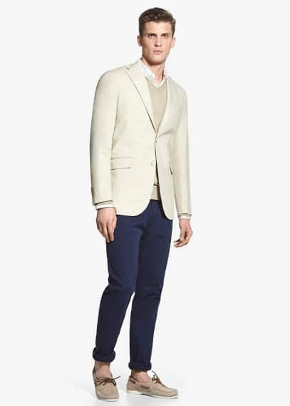 Cotton canvas blazer | MANGO MAN