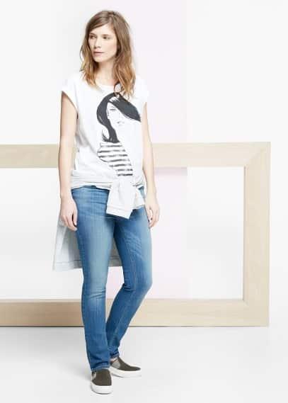 Μπλουζάκι βαμβακερό εμπριμέ | VIOLETA BY MANGO