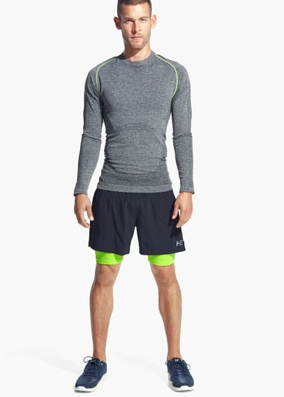 Multi-way stretch running t-shirt | MANGO MAN