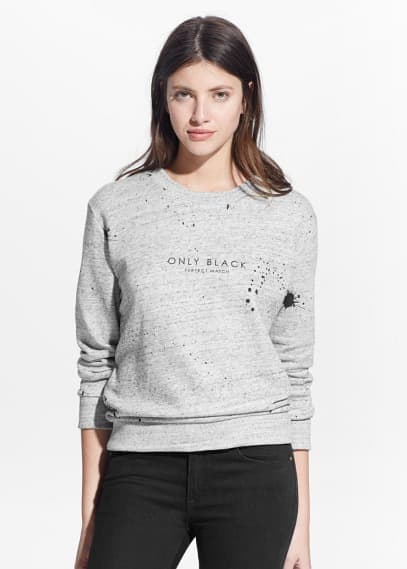 Message plush sweatshirt | MANGO