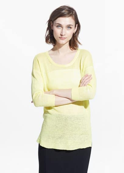 Knit linen sweater