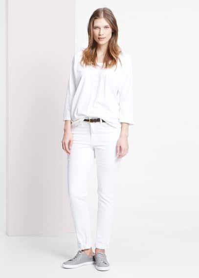 Μπλουζάκι βαμβακερό φλαμέ | VIOLETA BY MANGO