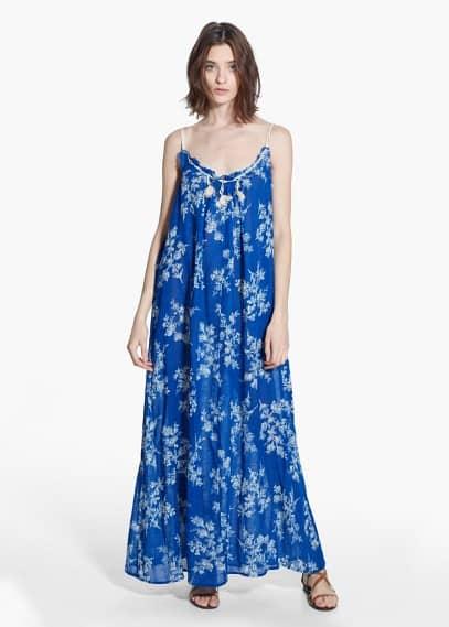 Floral long dress | MANGO