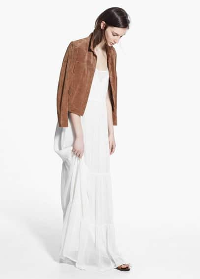 Embroidered panel dress | MANGO